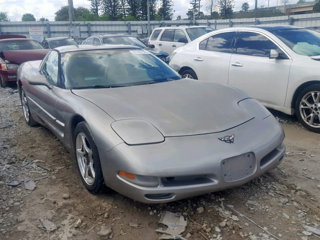 Salvage Title Chevy Corvette with damage in rear
