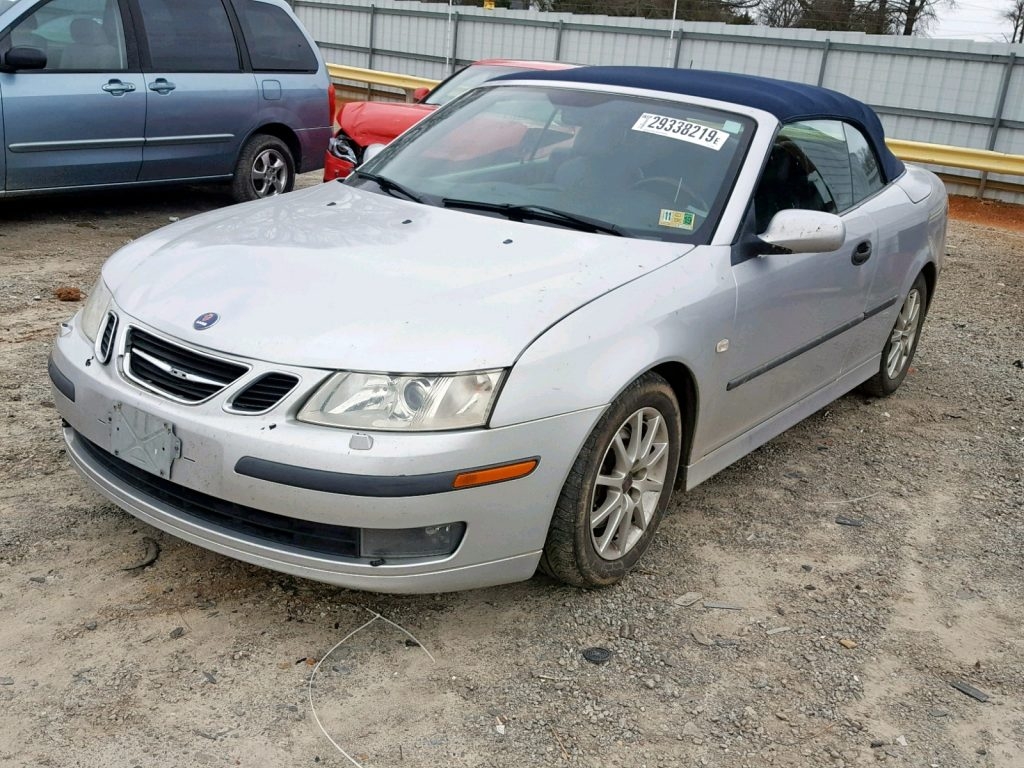 9-3 Convertible Salvage title auction