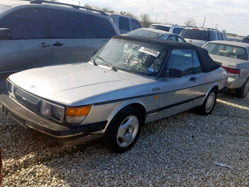 1986 900 Saab Turbo Convertible Salvage Auction
