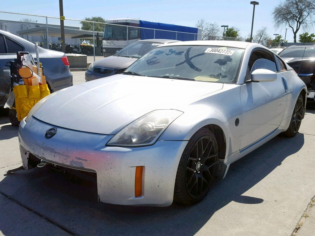 Damaged Nissan 350Z At Salvage Auction