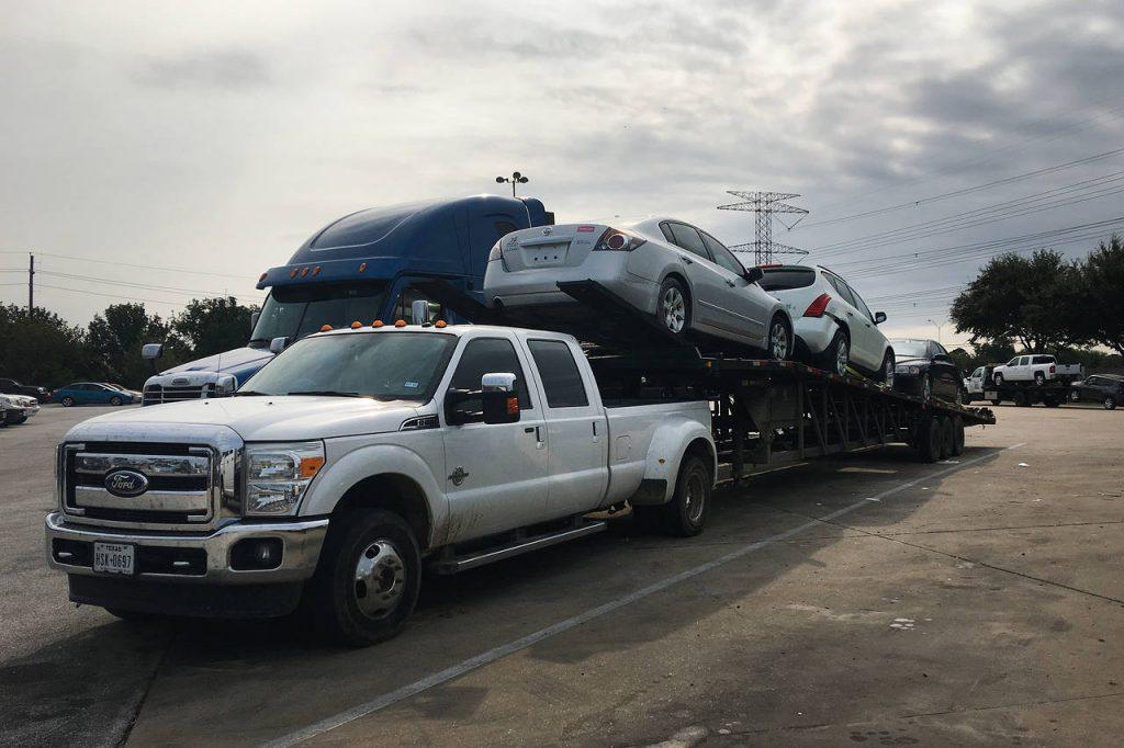 hurricane damaged vehicles